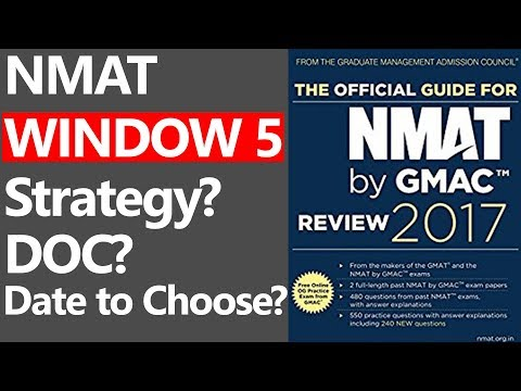 NMAT WINDOW 5 - STRATEGY, DOC?, DATE TO CHOOSE? & SCALING EFFECT