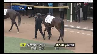 2019年1月12日(土曜) 1回中山3日 6R メイクデビュー中山 芝 1600m 01...