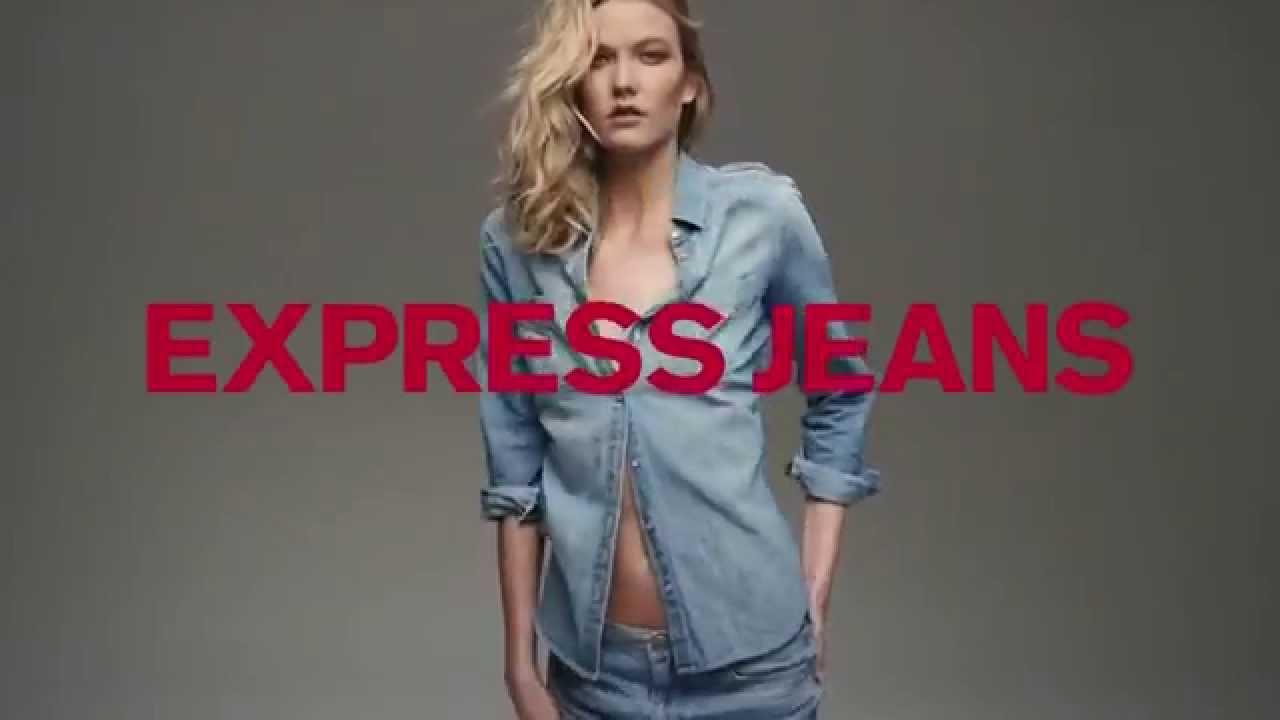 EXPRESS Jeans ft. Karlie Kloss TV Commercial (Fall 2015) - YouTube