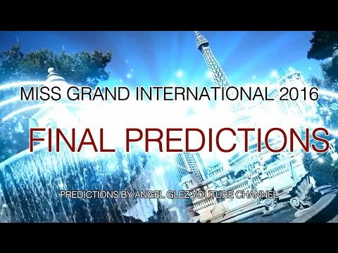 Download Miss Grand International 2016 - Final Predictions