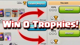 Clash Of Clans Zero Trophy 3 Star Attacks | Winning 0 Trophies On Offense