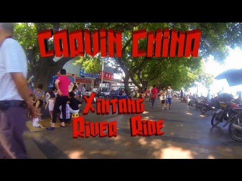 Motorcycle Ride: Xintang River Tour Guangzhou Guangdong China GoPro Suzuki Inazuma GW250 GSR250