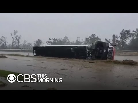 Hurricane Delta wreaks havoc along Louisiana coastline weeks after Hurricane Laura
