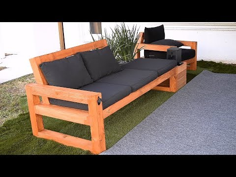 DIY Modern Outdoor Sofa - YouTube