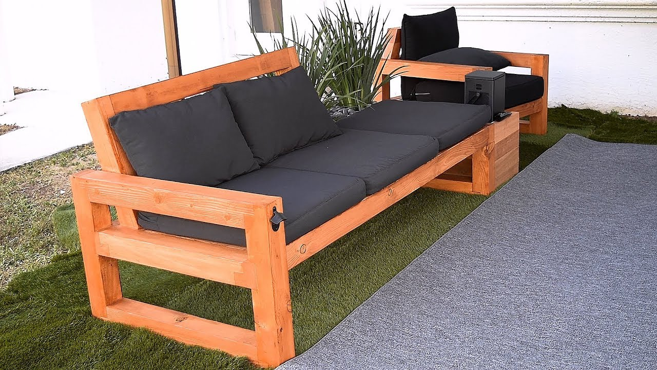 Diy Modern Outdoor Sofa Youtube