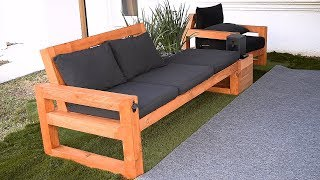 DIY modern outdoor sofa