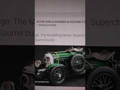 BENTLEY.car made 👑KING ALEXANDER GLADSTONE iv.Actor white Celtic ancient british European republic