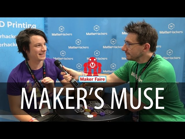 Makers Muse interview at Matterhackers booth at Bay Area Maker Faire 2017