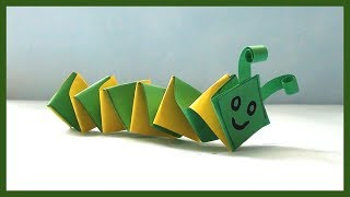 DIY Paper Caterpillar | Paper Crafts for kids and beginners