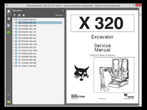 bobcat excavator 320 325 331 series service and owners manual bobcat excavator 320 325 331 series service and owners manual