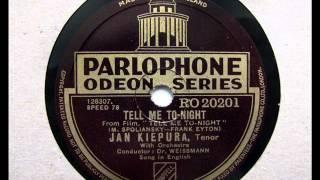 Tell Me Tonight - Jan Kiepura - 1932