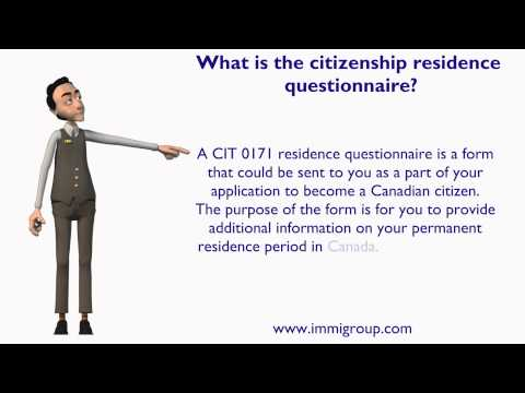 What is the citizenship residence questionnaire?