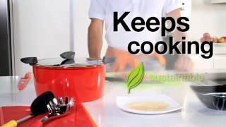 Kuhn Rikon hot pan cookware demonstration