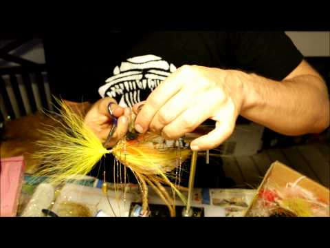 """fly tying with solar """"The brown perch"""""""