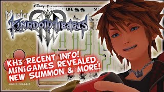 Kingdom Hearts 3 Recent News! Classic Kingdom 20 Minigames - New Summon - KHUX New World Is Coming