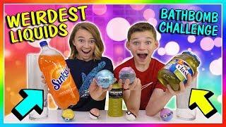 WEIRDEST LIQUID BATH BOMB CHALLENGE | We Are The Davises