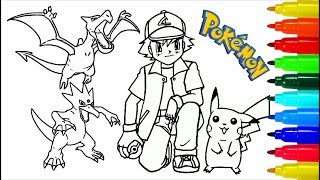 Pokemon Coloring Pages # 3 | Colouring Pages for Kids with Colored Markers