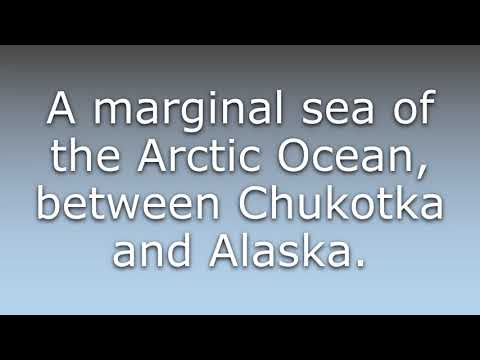 What does Chukchi Sea mean?