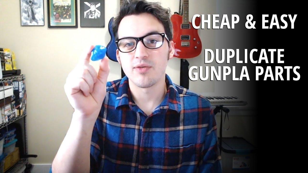 How to Copy Gundam Model Parts | Cheap Easy Fast Oyumaru Blue Stuff