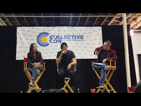 Courtney Ford, Brandon J Routh and Patty Hawkins q and a panel