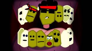 Trinidad James Teeth Vs Maino Cartoon Parody
