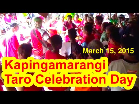 Kapingamarangi Taro Celebration Day, March 16, 2015