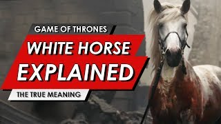 Game Of Thrones: White Horse Explained | The True Meaning Behind Arya's Ending | Season 8: Episode 5