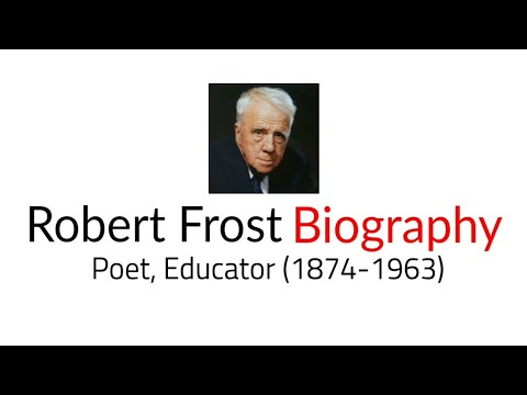 Robert Frost: An American poet Biography in Hindi