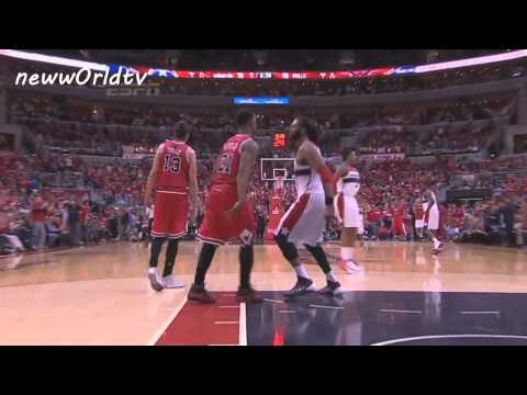 NENE / JIMMY BUTLER FIGHT (CHICAGO BULLS / WASHINGTON WIZARDS) #PLAYOFFS