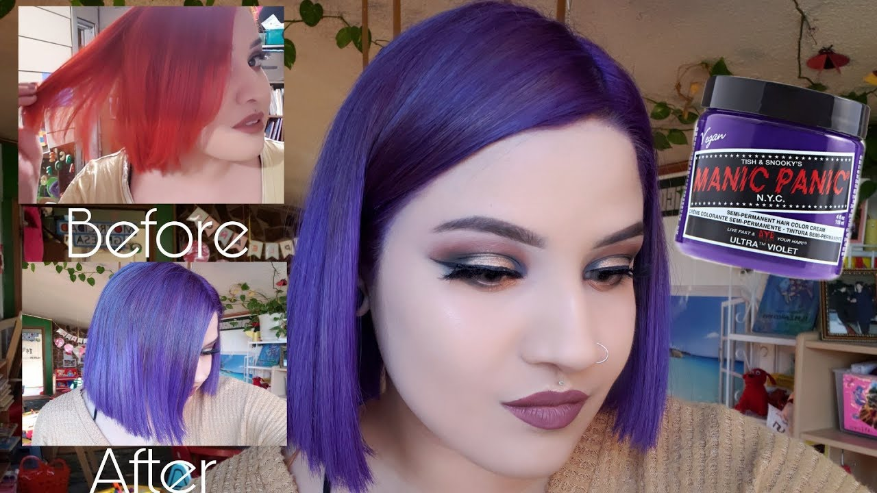 dying hair purple ultra