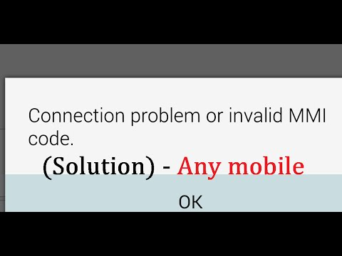 How to Fix 'Connection problem or invalid MMI code' when Running USSD code in any mobile phone