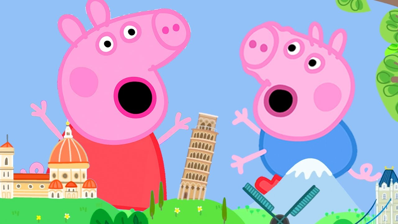 Peppa Pig Official Channel | Peppa Pig Becomes a Giant at the Tiny Land