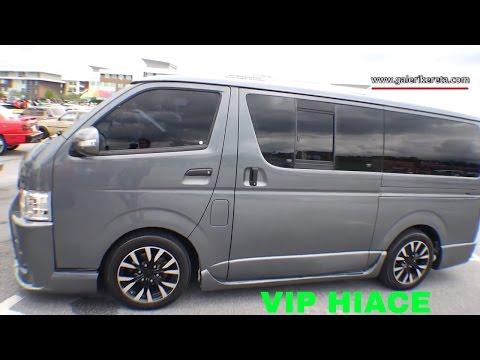 Toyota Hiace Grey Modified   Mega Gathering 2K16 UPSI Tanjung Malim   Closeup Video
