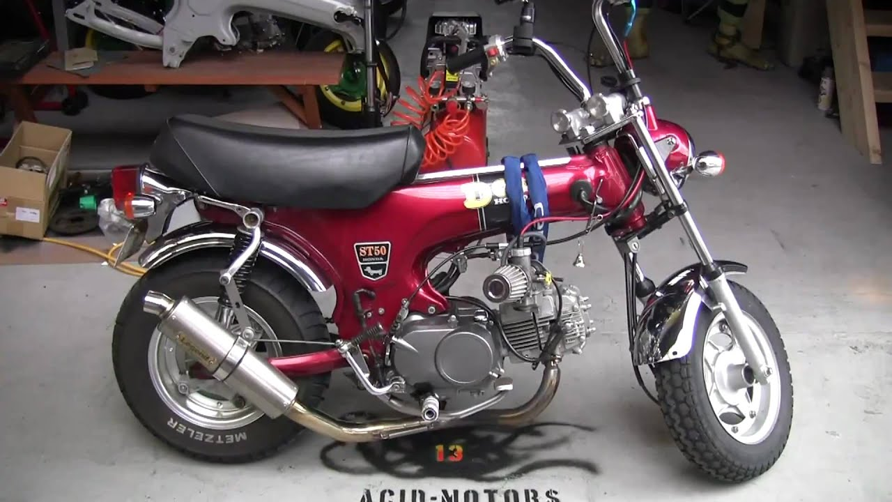 acid motors honda dax 150cc red for sale youtube. Black Bedroom Furniture Sets. Home Design Ideas