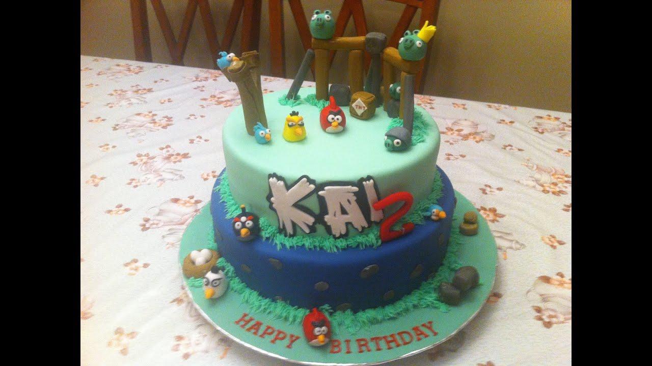 Angry Birds Video Game Cartoon Birthday Cake Youtube