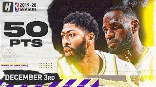 LeBron James & Anthony Davis 50 Pts Combined Highlights vs Nuggets   December 3, 2019
