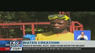 Youth in Kilifi use ocean water for welding