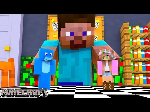 Minecraft GUESS WHO !!! WHO FOUND MINECRAFT STEVE w/ Little Kelly and Sharky