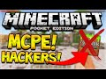 Mcpe hackers + mods - minecraft pe app makers ruining servers for the community (must watch!) android