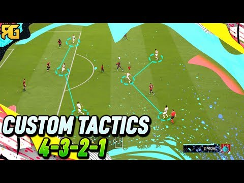 FIFA 20 | 4-3-2-1 Best Custom Tactics + Instructions! | HOW TO PLAY 4321 EASILY!
