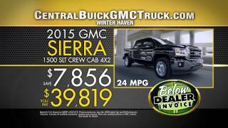 Below Invoice Pricing on 2015 Buicks & GMCs at Central