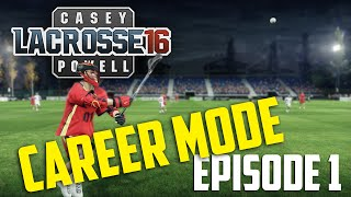Casey Powell Lacrosse 16: Aaron Hughes - Career Mode ep. 1
