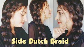 Side Dutch Braid | Braided Hairstyle| Beautiful Braided Hairstyle for long hair  | Pretty Preksha