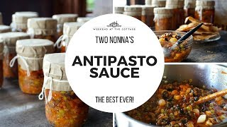 How to make HOMEMADE ANTIPASTO SAUCE | Home Canning Special!
