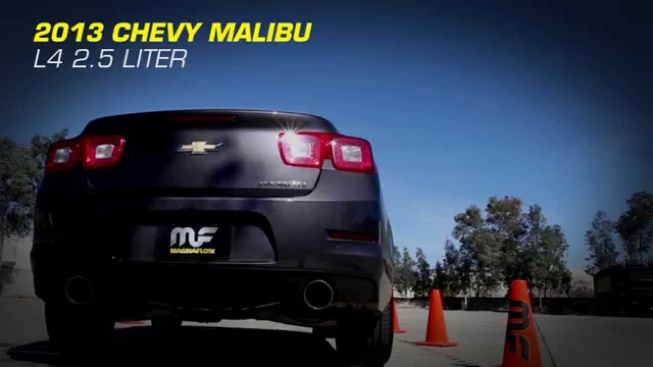 2013 Chevy Malibu L4 2.5L with MagnaFlow Exhaust Part #15198 - YouTube
