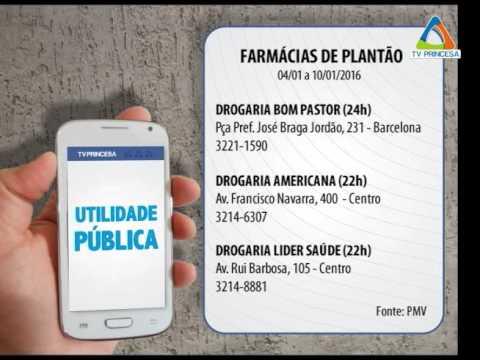 (JC 04/01/16) Farmácias De Plantão