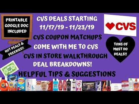 HOT DEALS & FREEBIES CVS COUPON DEALS STARTING 11/17/19|CVS COUPON MATCHUPS DEAL BREAKDOWNS ❤️