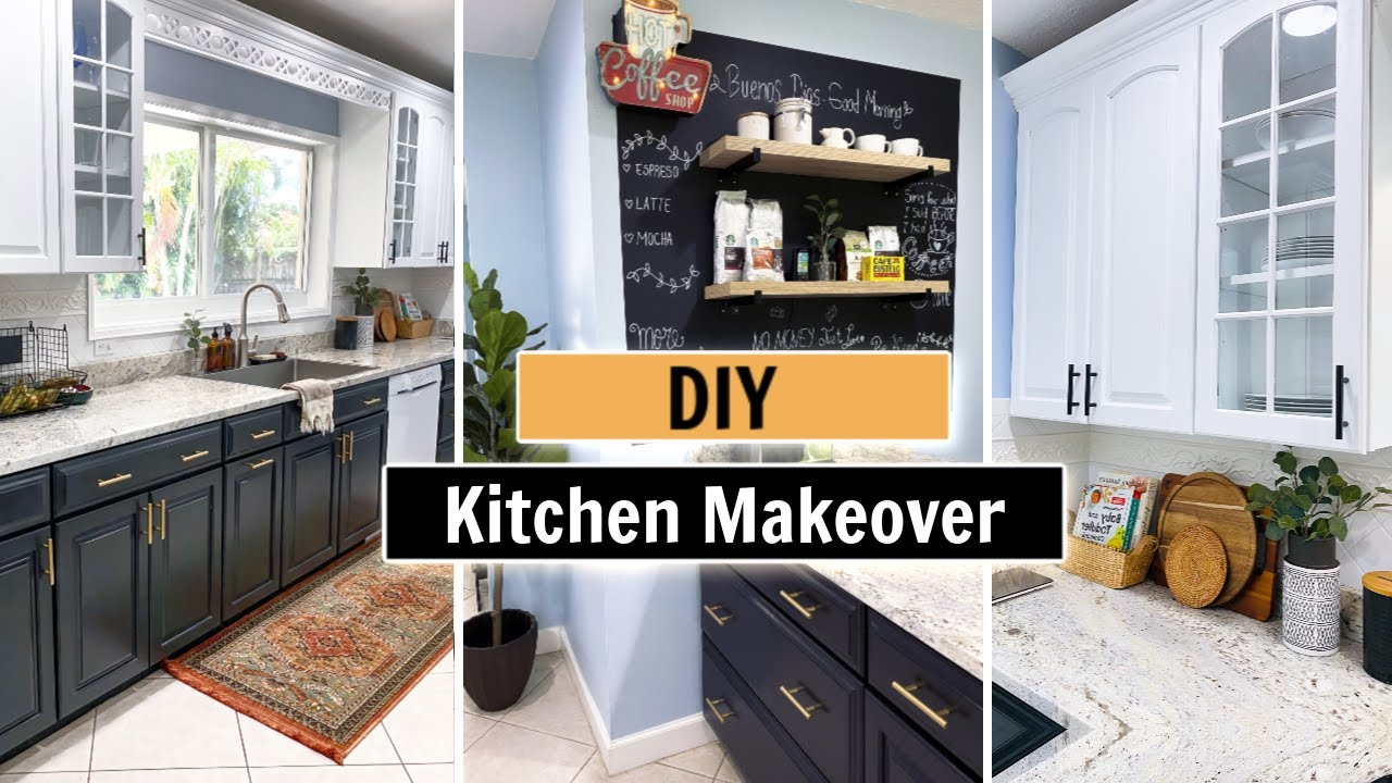 Diy Kitchen Makeover Decorating Ideas Modern Boho Kitchen Kitchen Diy Youtube