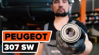 Montaje Juego de cojinete de rueda delantera y trasera PEUGEOT 307: vídeo manual