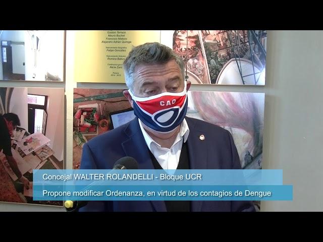 ROLANDELLI propone modificar ordenanza por casos de Dengue